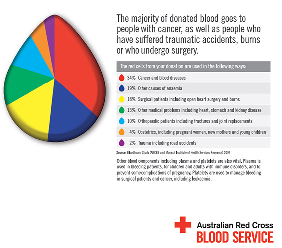 How is donated blood used