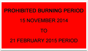 Prohibited Bruning Period