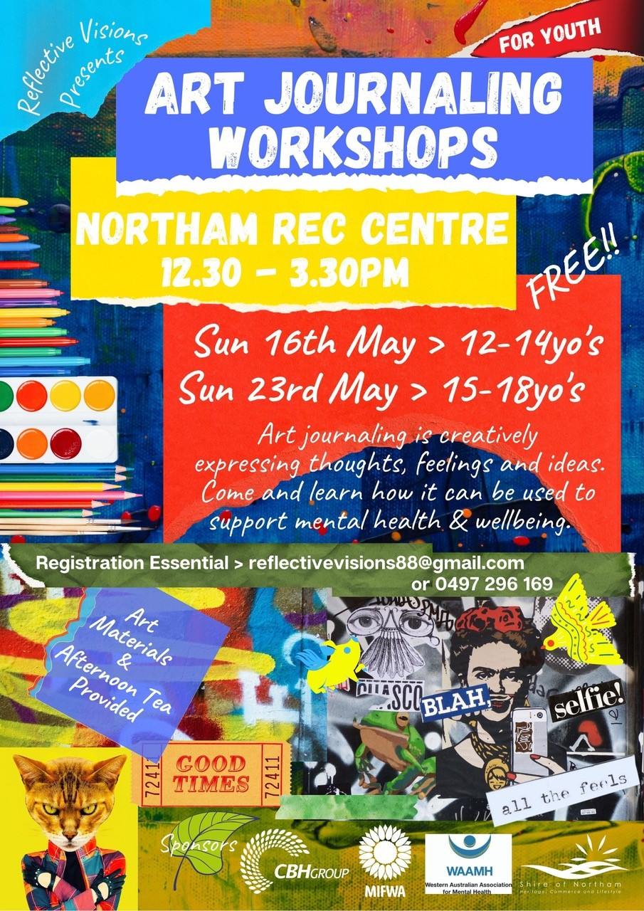 Youth Art Journaling Workshops – FREE – Northam