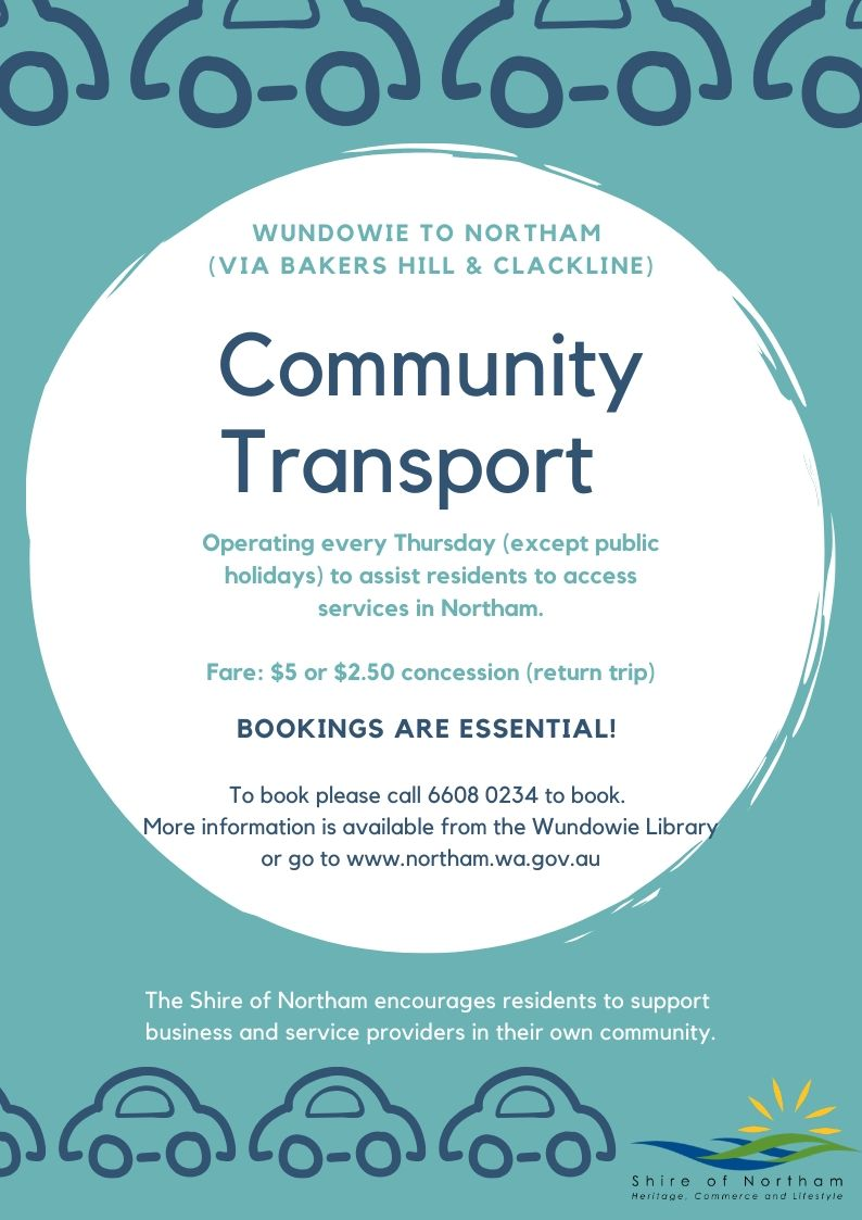 Wundowie to Northam Community Transport is back